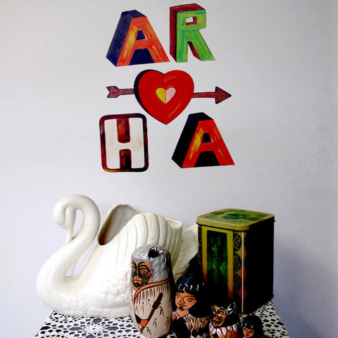 "Small ""Aroha"" decal"