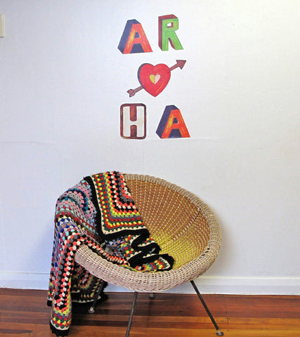"Large ""Aroha"" decal"