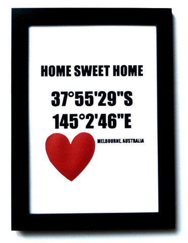 "Melbourne ""Home Sweet Home"" Print"