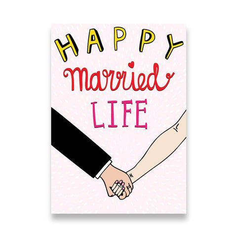 Happy Married Life - Wedding Card