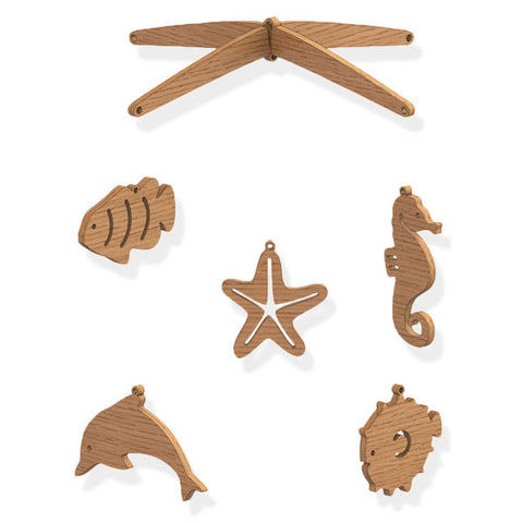 Wooden Sea Life Mobile - Byrne Woodware