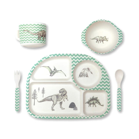 Bamboo Dinner Set - Dinosaur Feast
