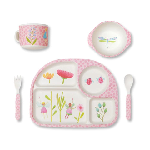 Bamboo Dinner Set - Fairy Garden