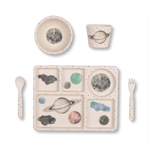 Bamboo Dinner Set - Moon and Stars