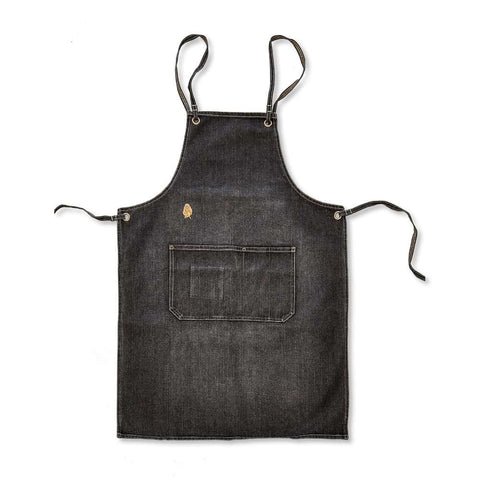 Golden Monkey Denim Apron - Black