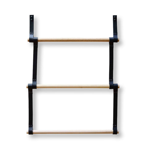Black Leather Wooden Ladder