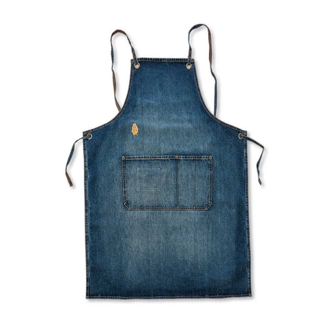 Golden Monkey Blue Denim Apron - Cafe Style