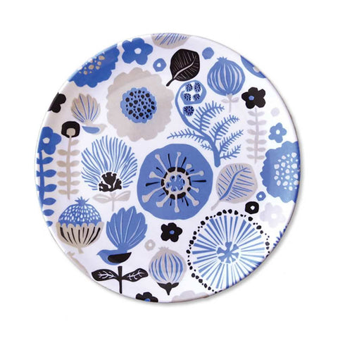 Blue Floral Plate from Tofutree