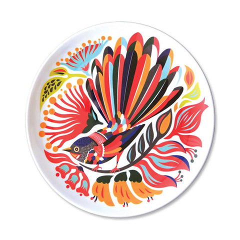 Colourful Fantail Plate from Tofutree