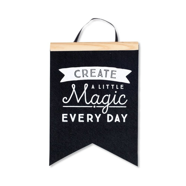 Create a Little Magic - Felt Flag