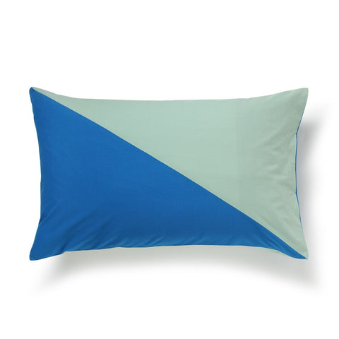 Diagonal Pillowcase Set - Blue/Mint