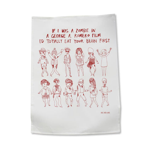 If I was a Zombie Tea Towel