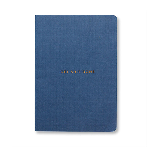 Mi Goals - Gold Foil Get Shit Done Notebook in Navy