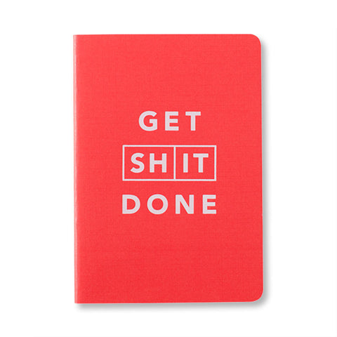Mi Goals Get Shit Done Notebook Red