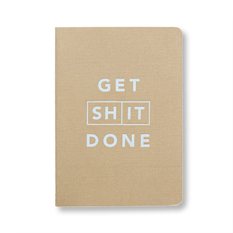 Get Shit Done Notebook - Tan