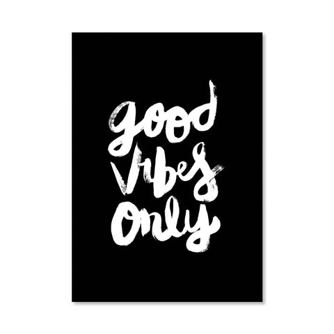 Good Vibes Only Print - Inverted