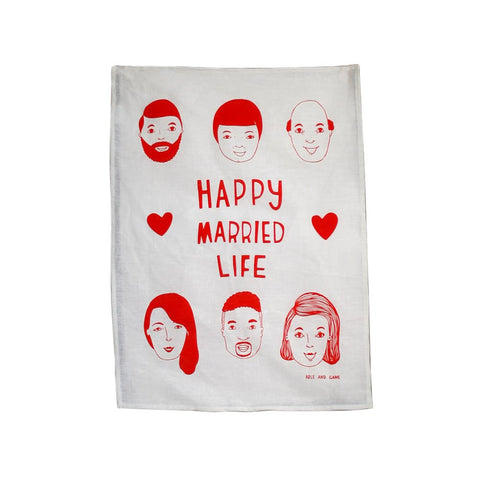Happy Married Life Tea Towel
