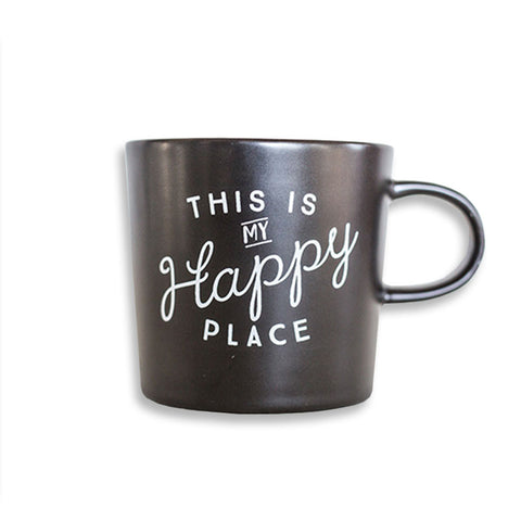 Happy Place Mug - White