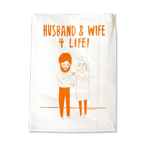 Husband and Wife Tea Towel