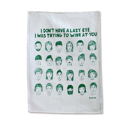 Lazy Eye Tea Towel from Able and Game