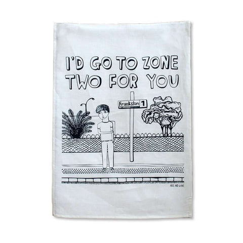 Zone Two Tea Towel from Able and Game