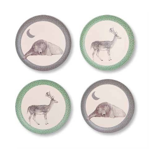 Bamboo Plates Bear and Deer