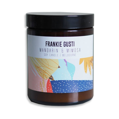 Mandarin and Mimosa Soy Candle by Frankie Gusti