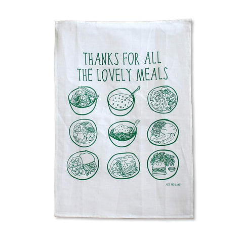 Thanks for the Lovely Meals Tea Towel from Able and Game