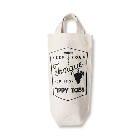 Tippy Toes wine tote