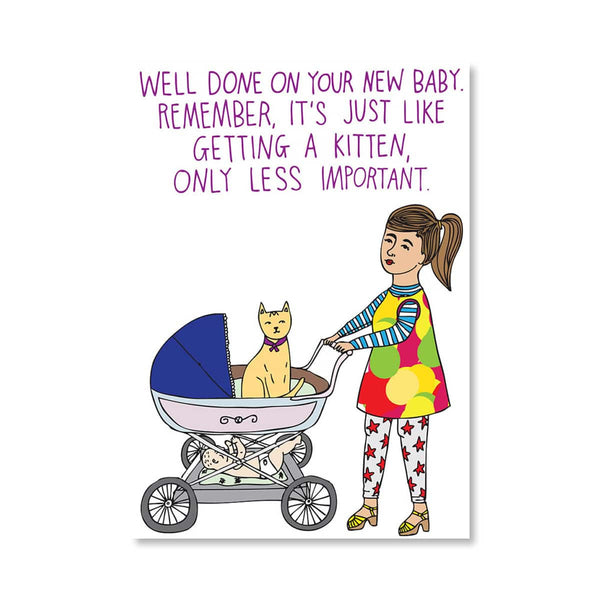 Well Done on Your New Baby Card