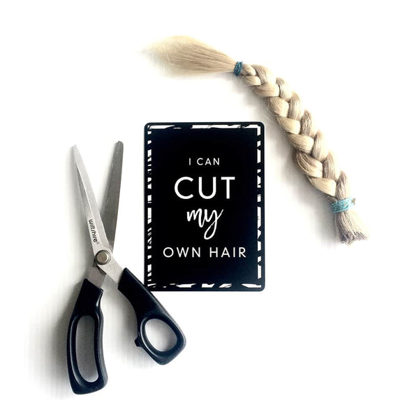 Toddler Milestone card cut hair