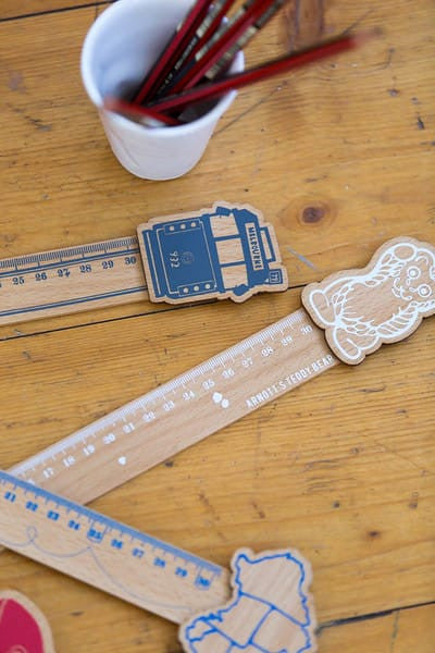 Iconic wooden rulers