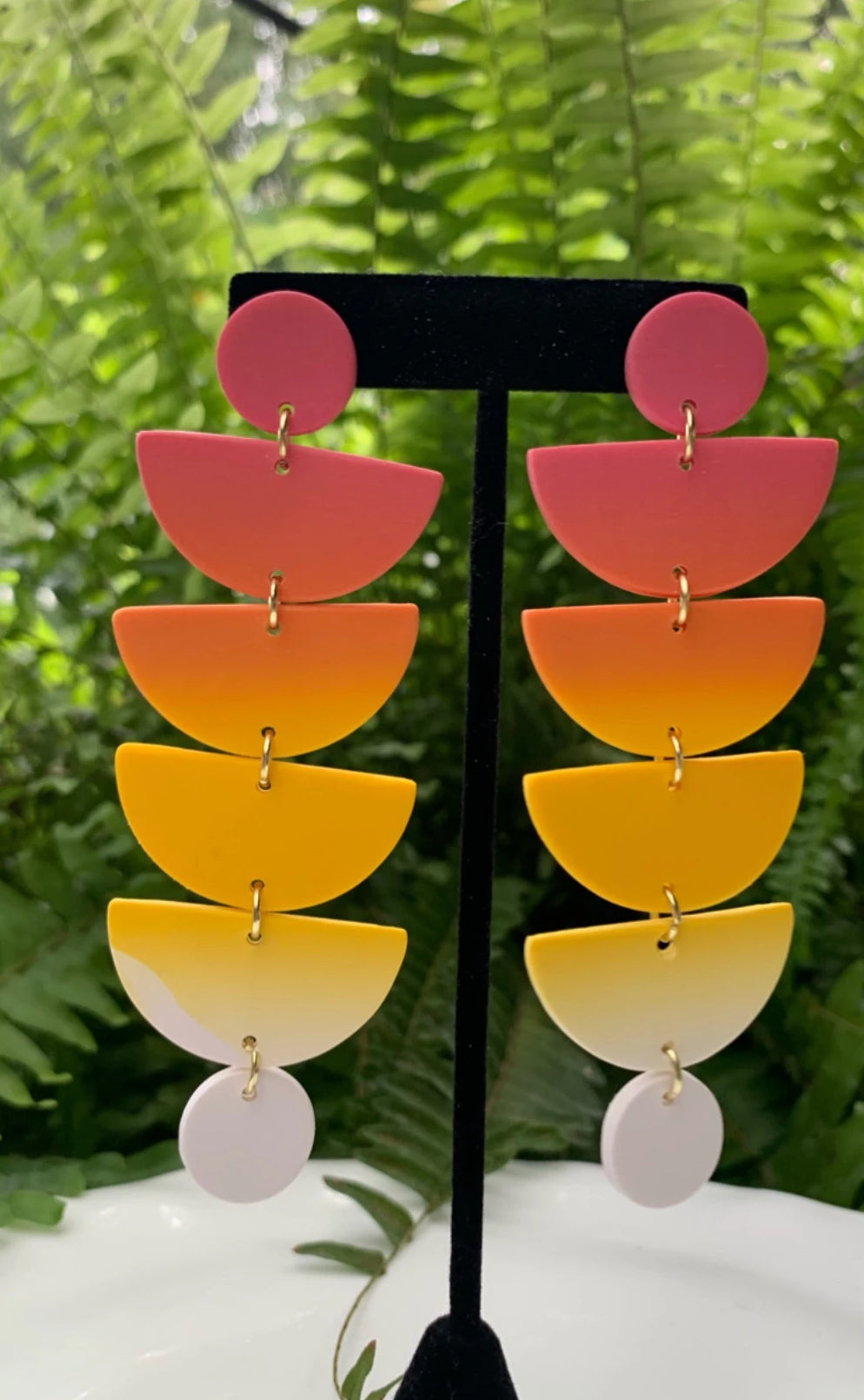 STACKS - Spring Inspired Blended Polymer Clay Earrings - large