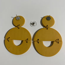 Load image into Gallery viewer, TRACY - Mustard Yellow Polymer Clay Earring