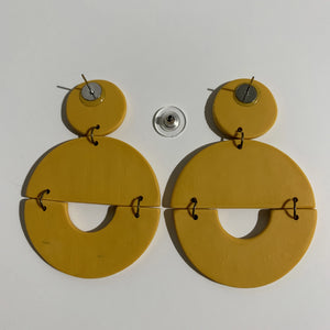 TRACY - Mustard Yellow Polymer Clay Earring