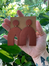 Load image into Gallery viewer, ARCHES - Bronze Polymer Clay Arch Earrings