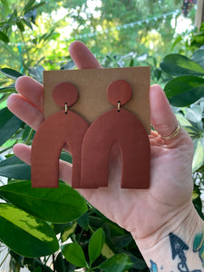 ARCHES - Bronze Polymer Clay Arch Earrings
