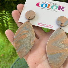Load image into Gallery viewer, FEATHER - Metallic Marbled Polymer Clay Fall Earrings