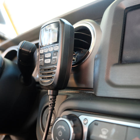 CB radio mount for Jeep Wrangler JL and Gladiator