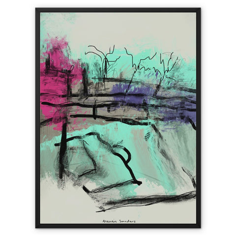 ultra contemporary landscape digital 1 Framed Canvas