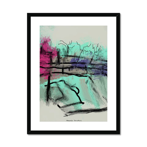 ultra contemporary landscape digital 1 Framed & Mounted Print