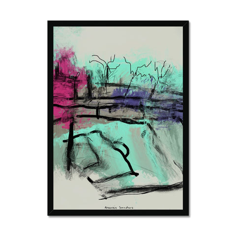ultra contemporary landscape digital 1 Framed Print