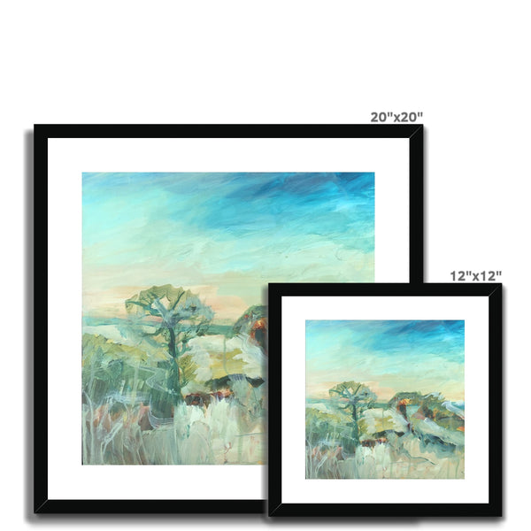 petworth park , 9am- 12am print  Framed & Mounted Print