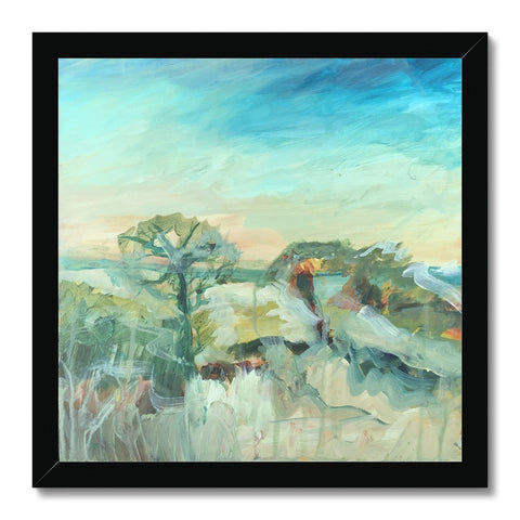 petworth park , 9am- 12am print  Framed Print