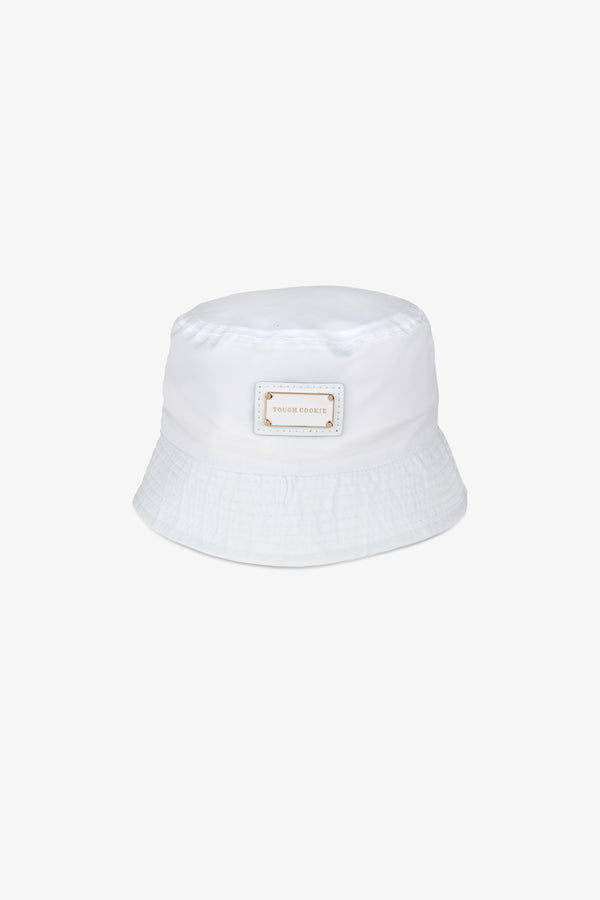 Minti nylon bucket hat - White