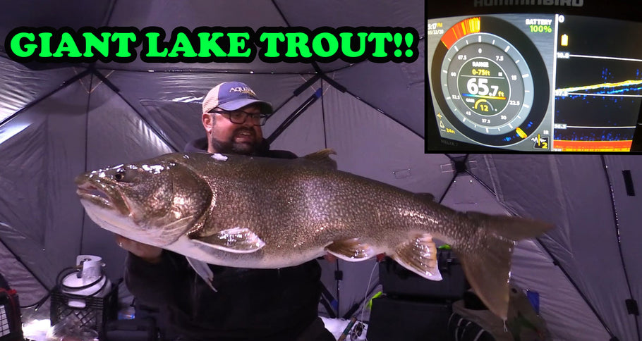 I CAUGHT A GIANT! | Ice Fishing Lake Trout BACK 2 BACK!!