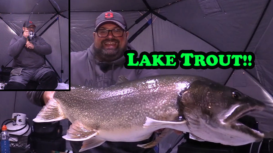 This Lake Trout almost took all my LINE!! | Ice Fishing for BIG Lakers!