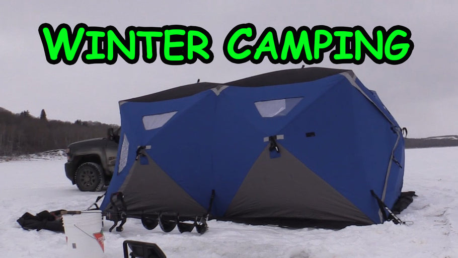 Winter Camping while slamming Walleye!!
