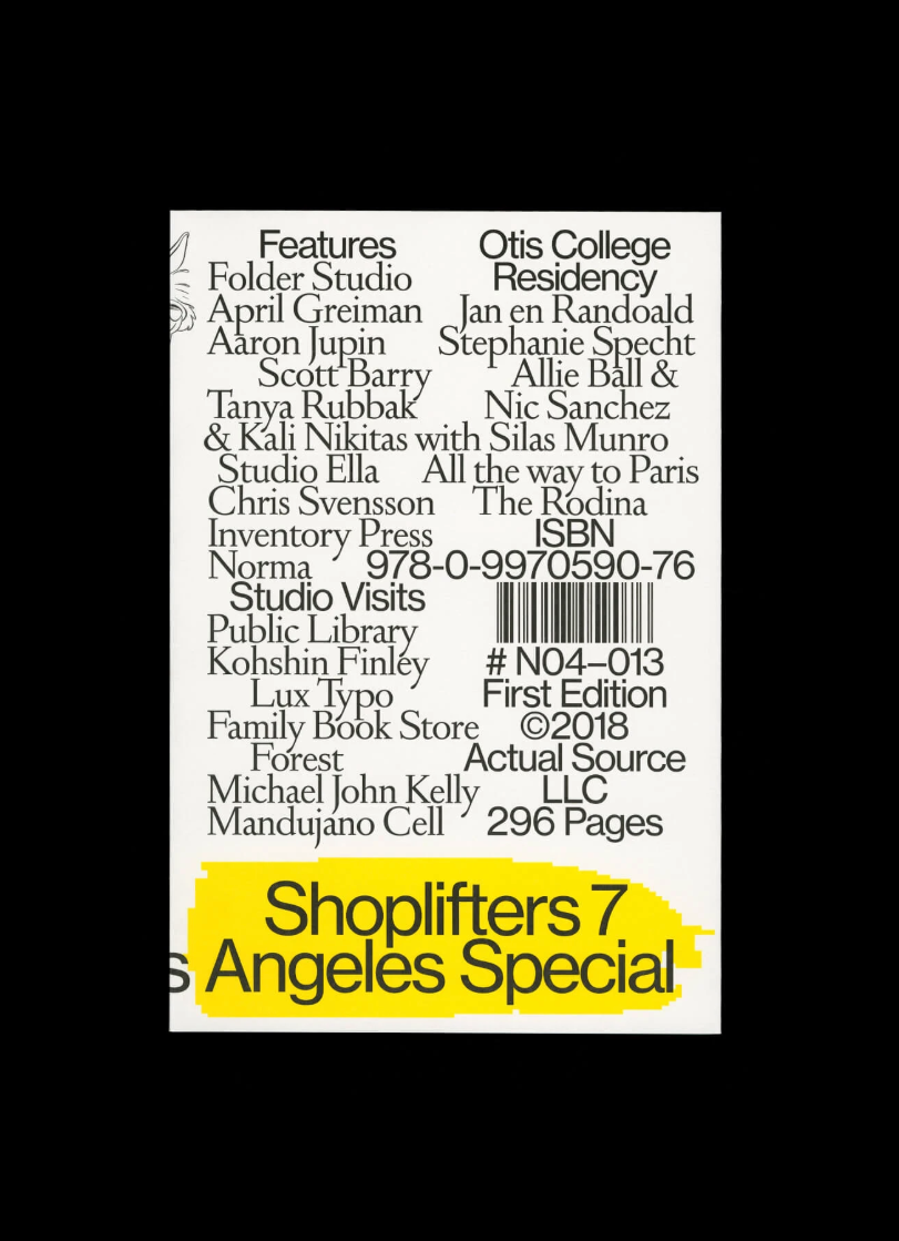 Shoplifters Issue 7: Los Angeles Special - Actual Source