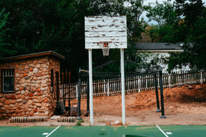 Basketball Hoop Outside of Zion National Park Utah